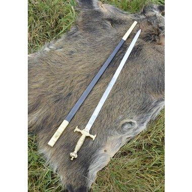 Épée de cérémonie, poignée dorée