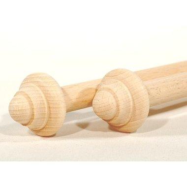 Rouleaux en bois 30 cm, par paire