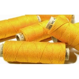 Linen yarn yellow, 50 m