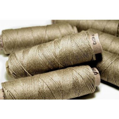 Linen yarn grey green, 50 m