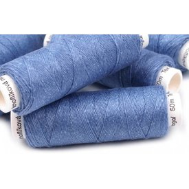 Rollo de lino azul claro, 50 m