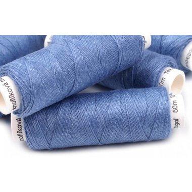 Filato di lino blu chiaro, 50 m