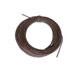Bracelet en cuir brut 2,5 mm, prix au mètre