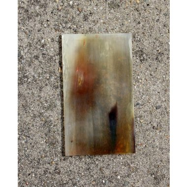 Horn plate 15 x 5 cm