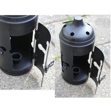 Lantern with cross opening