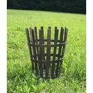 Round steel brazier