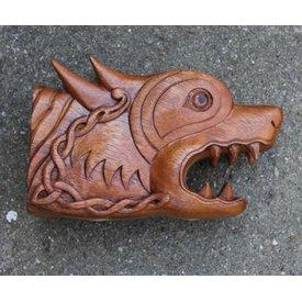 Testa di Fenrir in legno