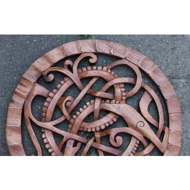 Serpent Midgard, en bois