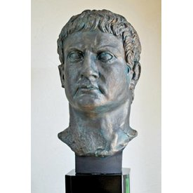 Bronze buste generelt Marcus Agrippa