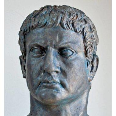 Bronzen buste generaal Marcus Agrippa