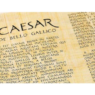 Rouleau de papyrus, Guerres des Gaules (Caesar's De bello gallico)