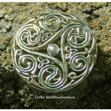 Celtic brooch triskelion