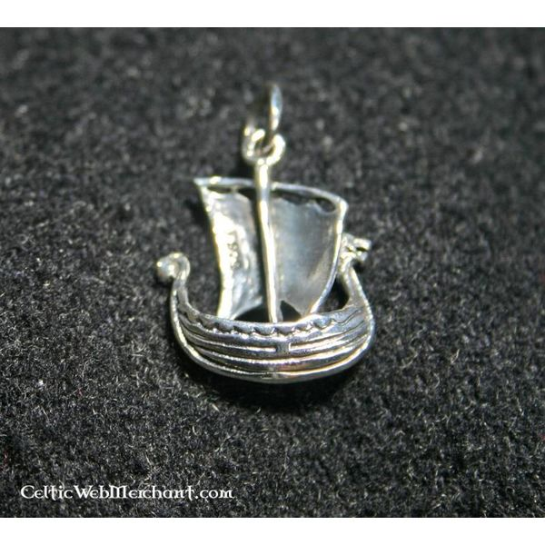 Silver Viking ship