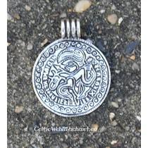 Viking bracteate, replica