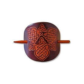 Celtic hairpin Joan dark brown