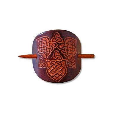 Keltische haarpin Joan donkerbruin