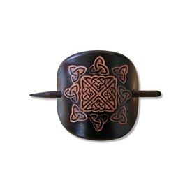 Épingle celtique à cheveux, Nuala, noir