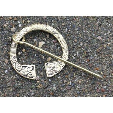 Fibula irlandese in ottone