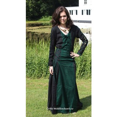 Robe Fea, noir et vert