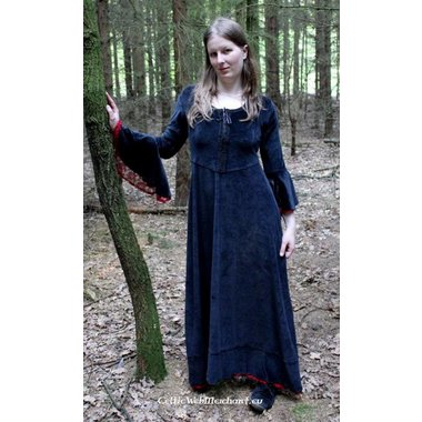Vestido Branwen, negro-rojo