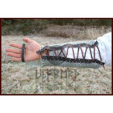 Protezione del braccio in cotta di maglia, zincato