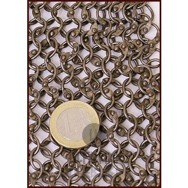 Camail à encolure carrée, anneaux ronds_rivets ronds, 8mm