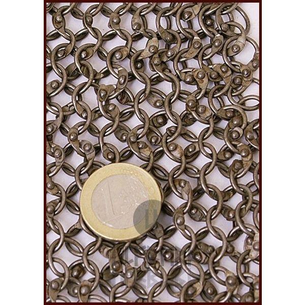 Ulfberth Cuffia con scollatura quadrata, anelli rotondi - rivetti rotondi, 8 mm