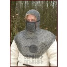Coif with square visor, round rings - round rivets, 8 mm