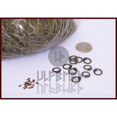 1000 anillos planos, remaches en cuña, 8 mm