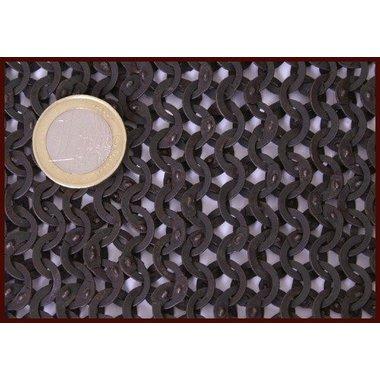 Cuffia con scollatura quadrata, anelli piatti-rivetti a cuneo 8mm