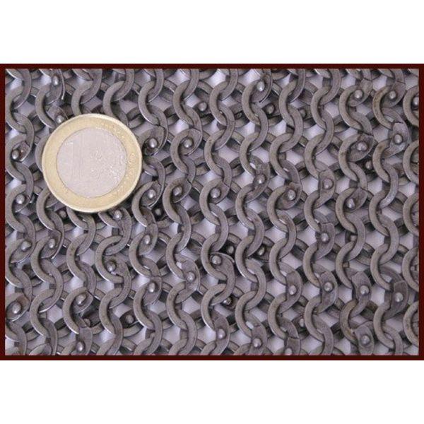 Ulfberth Paire de protection d'épaules, anneaux plats-rivets triangle, 8mm