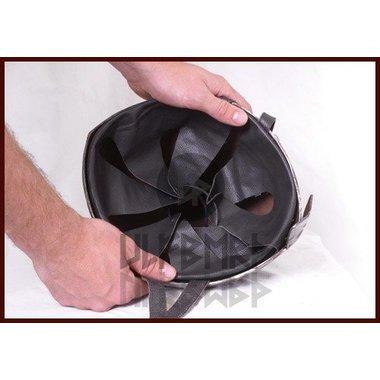 Leather helmet inlay