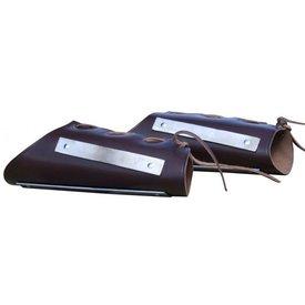 Læder-stål armbeskyttere i plade