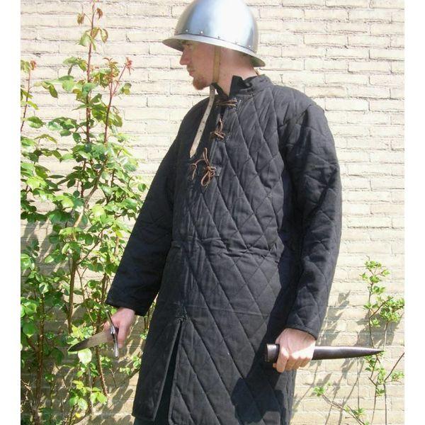 Ulfberth Długi przeszywanica ze skórzaną koronką