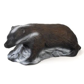 3D badger on stone