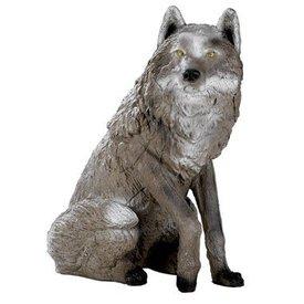 Loup assis FB en 3D