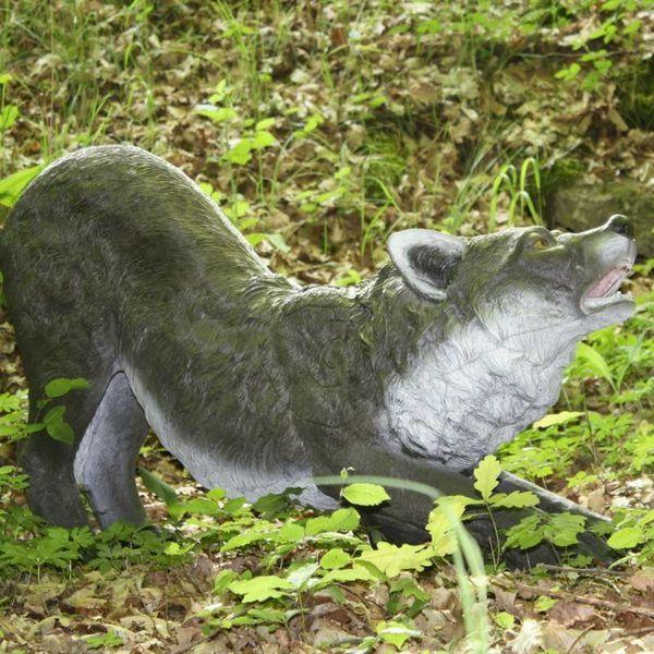 FB 3D lobo de rodillas