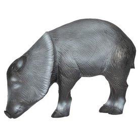 Cochon sauvage sur ses pattes en 3D