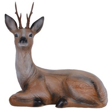 3D cerf assis