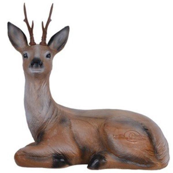 3D sidder hjort