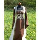 Robe Boann, marron et blanc