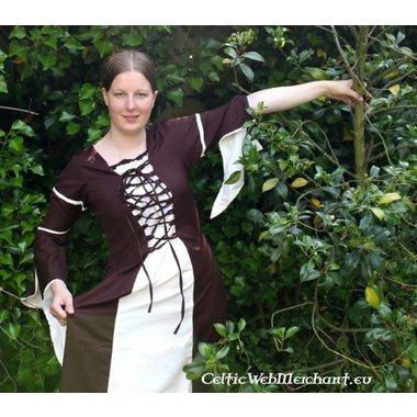 Dress Eleanora brown-white
