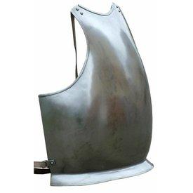 Brystplade med læder stropper
