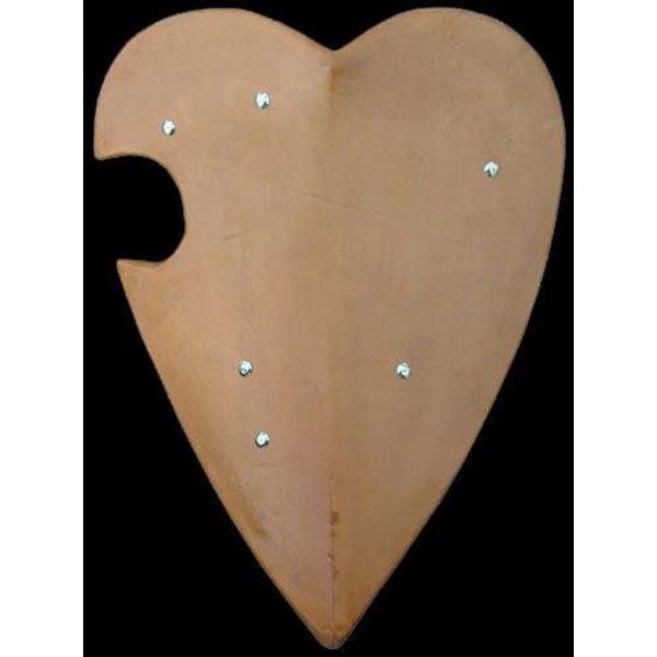 Bouclier de tournoi, en forme de coeur