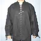Chemise avec cordelettes
