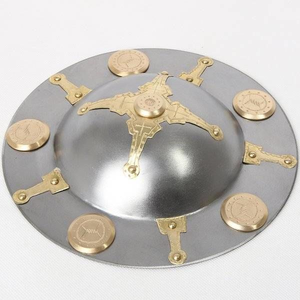 Umbo para escudo decorado germánico