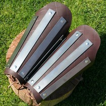 Leather-steel greaves