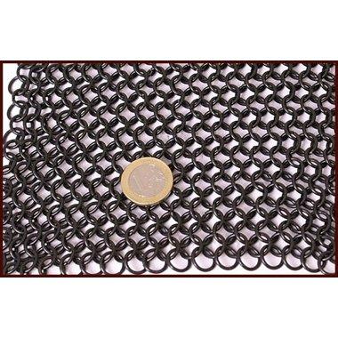 Camail à ventail carré, noirci, 8mm
