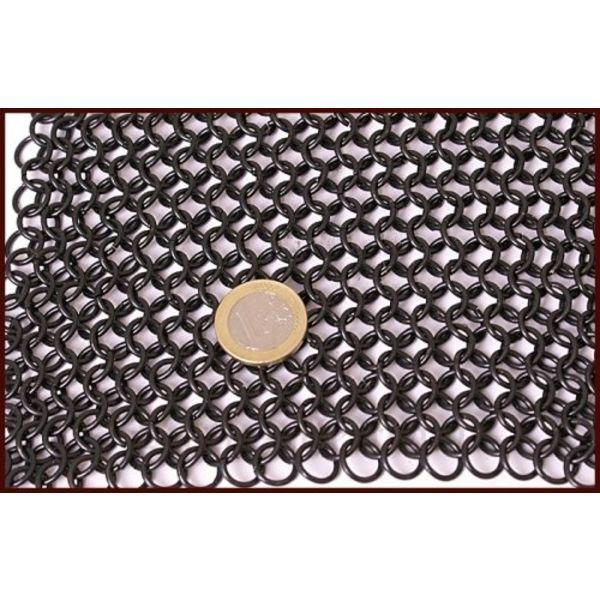 Cuffia con visore triangolare, brunita, 8 mm