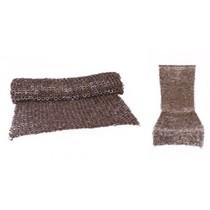Ulfberth Chain mail skirt, mixed flat rings-wedge rivets, 8 mm